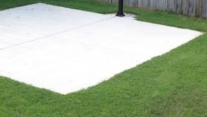 Concrete Shed Pad