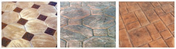 Stamped Concrete Tile Patterns